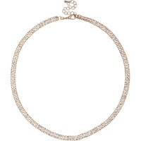 River Island Womens Rose Gold Tone Gem Encrusted Necklace