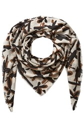 By Malene Birger Patterned Wool Scarf Multicolor