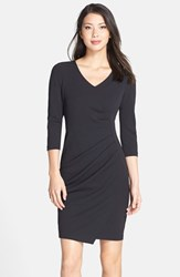 Women's Nydj 'Rosella' Stretch Crepe Sheath Dress Black