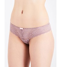Triumph Amourette Spotlight Stretch Lace Hipster Thong Brown Light Combo