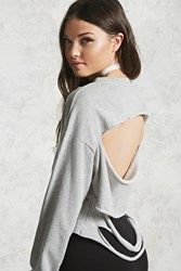 Forever 21 Distressed Back Sweatshirt