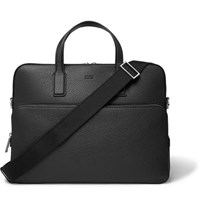 Hugo Boss Crosstown Full Grain Leather Briefcase Black