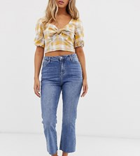Urban Bliss Cropped Kicked Flare Jeans Blue