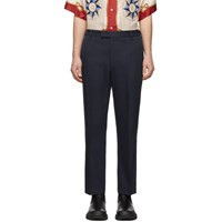 Gucci Navy Whipcord Cover Trousers