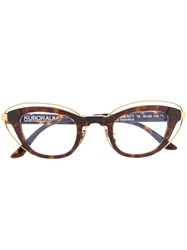 Kuboraum Tortoiseshell Cat Eye Frame Glasses 60