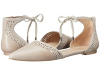 Franco Sarto Shirley Satin Taupe Leather Women's Dress Flat Shoes