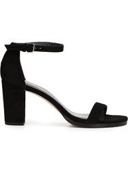 Stuart Weitzman 'Simple' Sandals Black