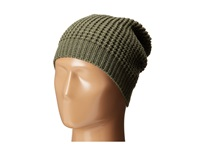 Hat Attack Waffle Stitch Slouchy Sage Knit Hats Green