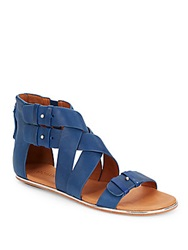 Gentle Souls Blessie Leather Sandals Royal Blue