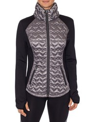 Betsey Johnson Quilted Hybrid Packable Jacket Gunmetal