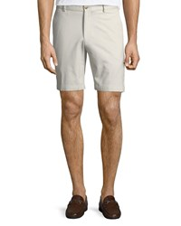 Peter Millar Crown Soft Touch Twill Shorts Light Gray