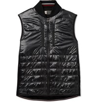 Z Zegna Slim Fit Quilted Nylon And Techmerino Wool Gilet Black