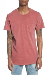 The Rail Garment Washed Pocket T Shirt Rust Pottery