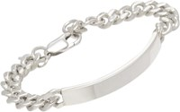 Loren Stewart Silver Big Daddy Chain Bracelet Colorless