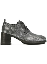 Ann Demeulemeester Metallic Grey Lace Up Shoes