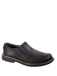 Merrell Realm Leather Moc Loafers Black