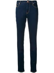 Vivienne Westwood Anglomania Embroidered Logo Skinny Jeans Blue