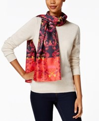Echo Poppy Silk Oblong Scarf Garner
