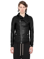 Rick Owens Hoded Soft Leather Jacket