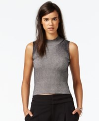 Rachel Rachel Roy Sleeveless Ribbed Mock Turtleneck Top