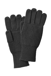 Marc By Marc Jacobs Cotton Wool Gloves Black