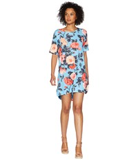 Nally And Millie Blue Floral Print Dress Multi