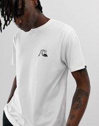 Quiksilver The Original Mountain And Wave T Shirt In White