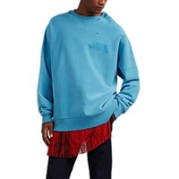 Calvin Klein 205W39nyc Jaws Cotton French Terry Oversized Sweatshirt Blue