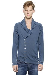 Alexander Mcqueen Cowl Neck Wool Blend Cardigan Light Blue