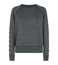 Rag And Bone Classic Eyelet Detail Sweatshirt Female Grey