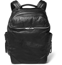 Alexander Wang Wallie Waxed Leather Backpack Black