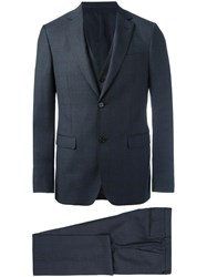 Z Zegna Three Piece Suit Grey