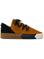 Adidas Originals By Alexander Wang Skate Sneakers Unisex Calf Leather Leather Rubber 8.5 Yellow Orange