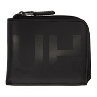 Hugo Black Statement Logo Zip Wallet