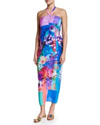 Gottex In Bloom Floral Print Halter Pareo Coverup Multi