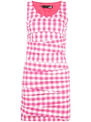 Love Moschino Gingham Check Mini Dress Pink Purple