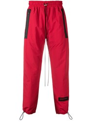 Represent Cuffed Track Pants Red