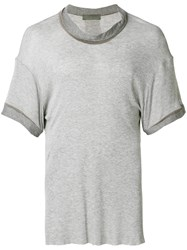 Di Liborio Roll Neck T Shirt Grey