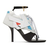Off White Black And Runner Heel Sandals