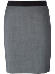 Lanvin Mini Skirt Grey
