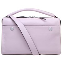 Kurt Geiger Emma Leather Bowling Bag Lilac