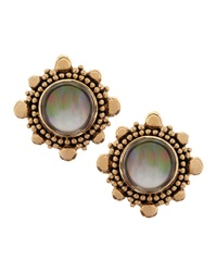 Stephen Dweck Rock Crystal And Mother Of Pearl Clip Earrings