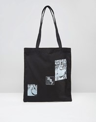 Asos Tote Bag With Patch Print Black