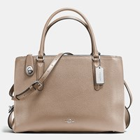 Coach Brooklyn Carryall 34 In Pebble Leather Sv Stone