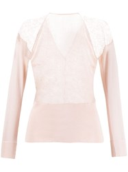Gianfranco Ferre Vintage 1990'S Lace Panel Top Pink