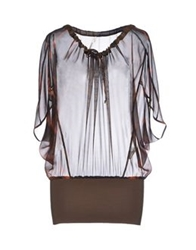 Pierantonio Gaspari Blouses Dark Brown