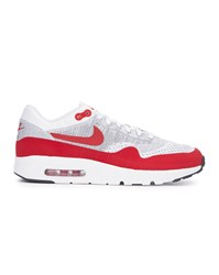 Nike Red And White Air Max 1 Ultra Flyknit Trainers