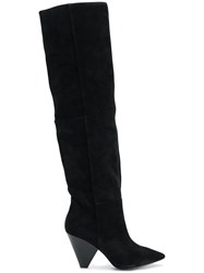Ash Knee Length Boots Black