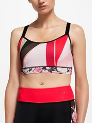 Ted Baker Fit To A T Sahara Bloom Print Sports Bra Multi Red