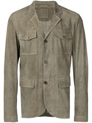 Desa 1972 Fitted Button Jacket Green